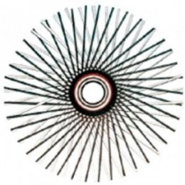 "Wohler 1428 24"" Steel Wire Star Brush"