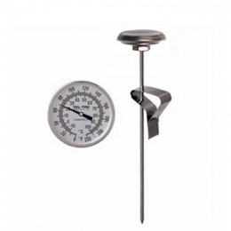 Tel-Tru 2819-05-01 Laboratory Testing Thermometer LT330R, 3 nch dial with pan clip 100/100F & -75/40C