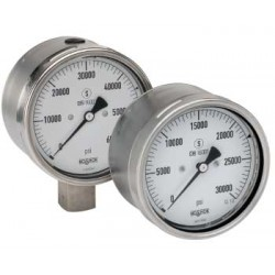 Noshok 60-402-60000-psi 9/16-18 Bottom Conn 6 Extreme High Pressure Stainless Steel Gauge