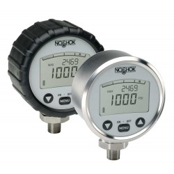 Noshok 1000--30 inHg to 0 to 145 psig-2-1-RCP Digital Gauge Min/Max Memory Option, Rubber Case Protector