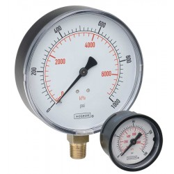 "Noshok 15-110- -30 inHg Vacuum to 0 - kPa 1/8"" NPT Back Conn 1.5"" ABS Case Pressure Gauge"