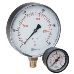 "Noshok 15-110- 0 psi to 1,000 psi - kPa 1/8"" NPT Back Conn 1.5"" ABS Case Pressure Gauge"