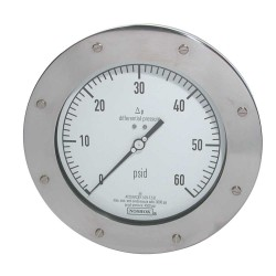 Noshok 1200 Series Membrane Type High Static Pressure Differential Gauges
