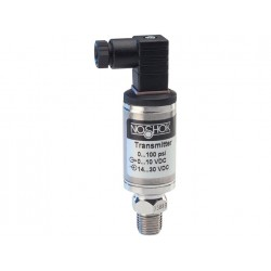 NOSHOK 200-200-1-5-2-1-ST8 Pressure Transmitter, 0 psig to 200 psig, 0.5% Accuracy (BFSL), 0 Vdc to 10 Vdc Output, 1/4 NPT Male, Mini-Hirschmann w/ 36 in Cable Attached, 0.8 mm SS Threaded Orifice