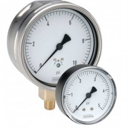 Noshok 25-200-0-15-inH2O 1/4 NPT Bottom Conn 2.5 Low Pressure Diaphragm Gauge