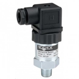 Noshok 300-1-1-150/2300-8 1 SPDT 1/8 NPT Hirschmann Conn Compact SPDT Mechanical Switch With Adjustable Hysteresis