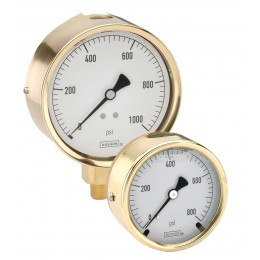 Noshok 300 series Brass Liquid Filled Pressure Gauges-noshok