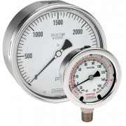 "Bottom Connection 1.5""ALL Stainless Steel DRY 1/8 NPT Gauge-400 SERIES"
