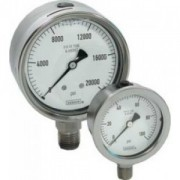 "Back Conn 6"" Stainless Steel Gauge-DRY"