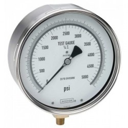 60-800-1000-psi-BT8 1/4 NPT Bottom Conn 6 Precision Test Gauge