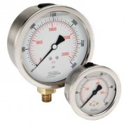 G¼ OR BSPP CONNECTION STAINLESS STEEL LIQUID-FILLED PRESSURE GAUGES