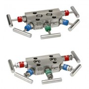 5040/5090 Series 5-Valve Power Pattern & Natural Gas Manifold Valves, Compact Style Hard Seat