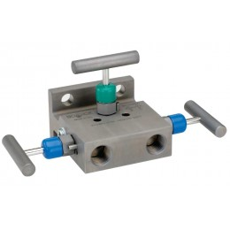 Noshok 3010/3110 Series 3-Valve Differential Pressure Manifold Valves, Hard Seat & Soft Seat