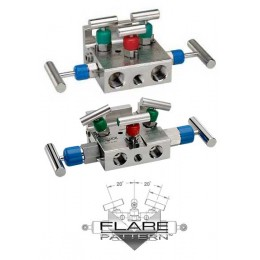 Noshok 5030/5130 Series 5-Valve Natural Gas Manifold Valves, Hard Seat & Soft Seat/Tip