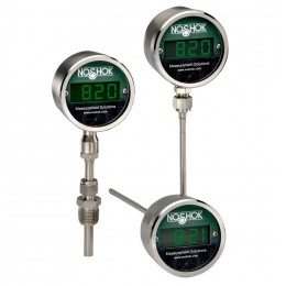 Noshok 820-1-1U-2-50/300-48-060-6 4-20 mA Upscale Burnout 1/4 NPT M 12 X 1 Bottom Conn 6 Stem 6 mm Diameter Digital Temperature Indicator