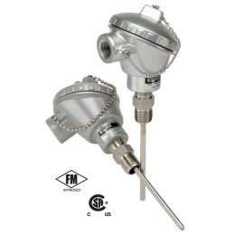 Noshok 910-50/400-1-C-1-IU-8-23A1-090-6 industrial RTD, Probe Type with Connection Head