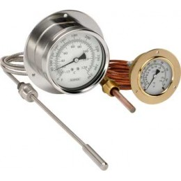 NOSHOK 25-310-1-1-8-2-45-3-1 30 °F/°C to 300 °F/°C Vapor Actuated Remote Dial Indicating Thermometer