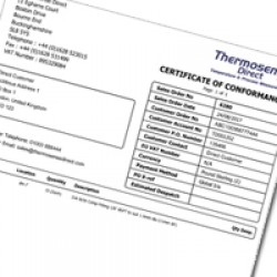 Noshok Certificate of Conformance of All Gauge Series AND Transmitters