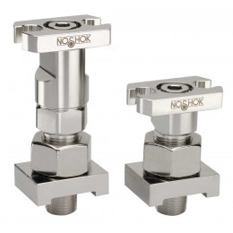 Noshok SZC3 STABILIZED CONNECTORS - LONG Pair without Flange Adaptor;Steel